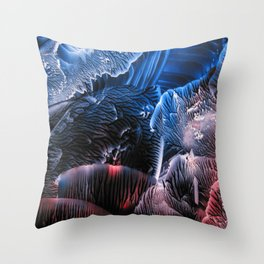 Abstract Midnight Blue Red Throw Pillow