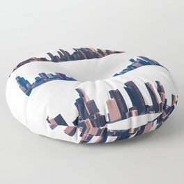 Chicago, New York, And Los Angeles City Skylines Floor Pillow