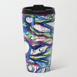 Coral Reef Abstract Watercolor Painting Travel Mug