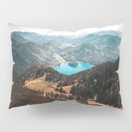 Mountains and lake Pillow Sham