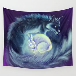 The Fox Who Stole the Moon Wall Tapestry