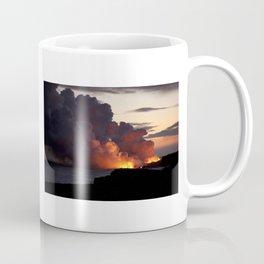 Lava Vaporizes Ocean Coffee Mug