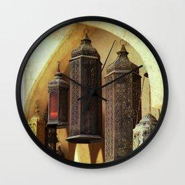 Arabian Lanterns Wall Clock