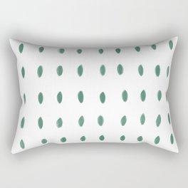 Paint Dabs in Green Rectangular Pillow