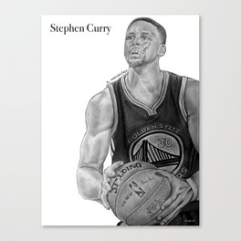 Steph Curry (black and white) Canvas Print