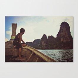 longboat, railay, thailand Canvas Print