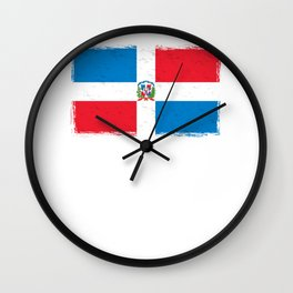 Dominican Republic Dominicano Flag Republica Dominicana Wall Clock