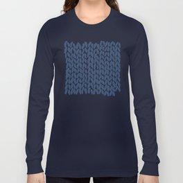 Half Knit Navy Long Sleeve T-shirt