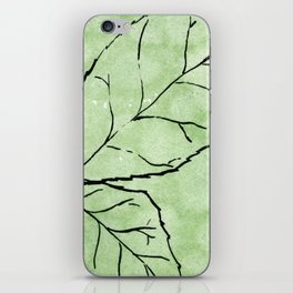 Two Leaves on Green iPhone Skin