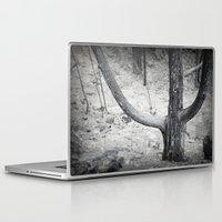 diablo Laptop & iPad Skins featuring El Tenedor del Diablo by Jennifer L. Craft