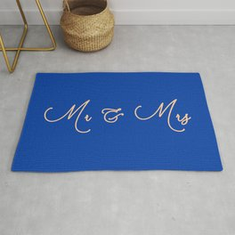 Wedding Present Mrs & Mrs Just Married Gift Blue Rug Rug
