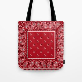 Classic Red Bandana Tote Bag