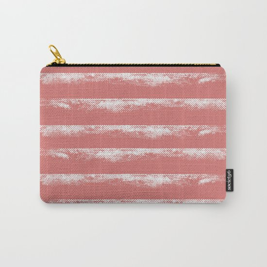 Irregular Stripes Coral Carry-All Pouch