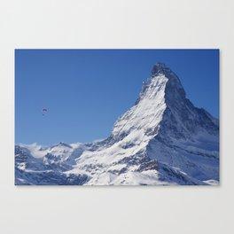 Zermatt and the Lone Parachuter Canvas Print