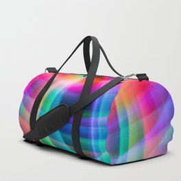 Spirograph rainbow light painting Duffle Bag