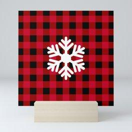 Red Buffalo Check - snowflake - more colors Mini Art Print