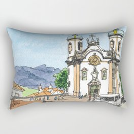 Church of St. Francis of Assisi, Ouro Preto, Brazil. Rectangular Pillow