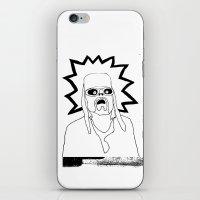 kurt rahn iPhone & iPod Skins featuring Saint Kurt by Oyl Miller