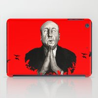 hitchcock iPad Cases featuring Alfred Hitchcock by Ilustrismo