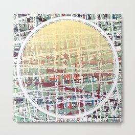 Crisscrossing - circle Metal Print