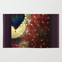 baloon Area & Throw Rugs featuring The Star Voyage by Balloon by ezop