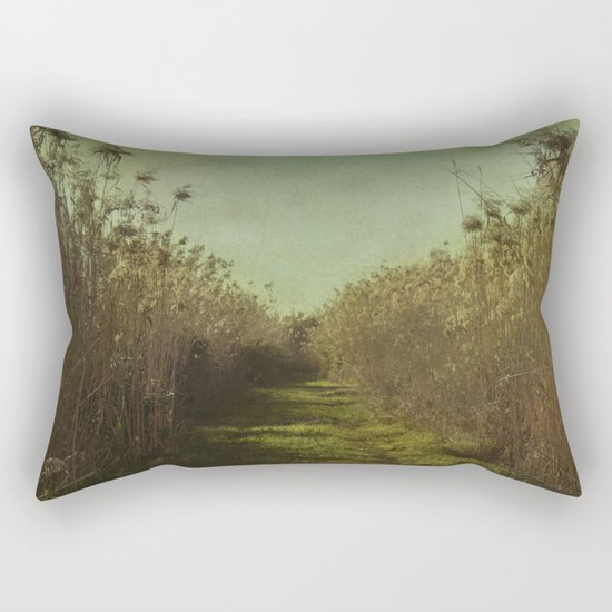 The path into the unknown Rectangular Pillow