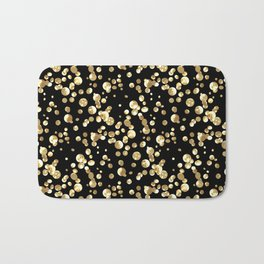 Golden confetti. Brilliant . Bath Mat