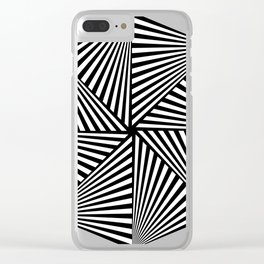 Octagon Dizziness 23 Stripes Clear iPhone Case