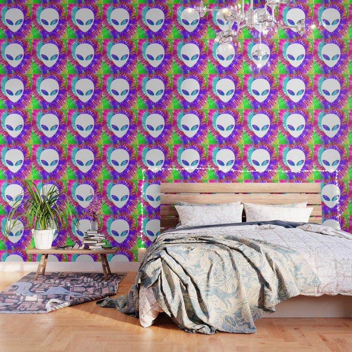 Rainbow Tie Dye Alien Head Tye Die Trippy Rave Wallpaper By Wwb