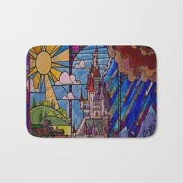 ROMANCE BEAUTY AND THE BEAST Castle Stained Glass Bath Mat