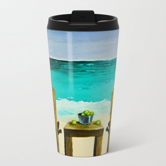 Beach Bums Metal Travel Mug