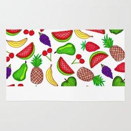 Tutti Fruity Hand Drawn Summer Mixed Fruit Rug