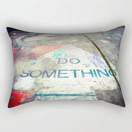 Do Something! Graffiti Art Rectangular Pillow