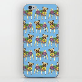 The Pugster (Blue) iPhone Skin