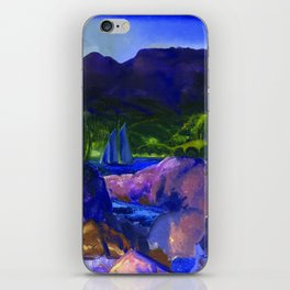 The Romance of Autumn landscape painting by George Wesley Bellows iPhone Skin
