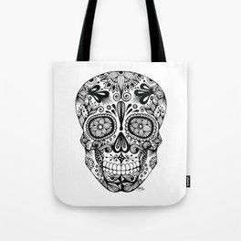 Zentangle - Sugar Skull  Tote Bag