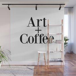 Art + Coffee graphic design Wall Mural