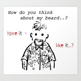 Bearded man-3 Art Print