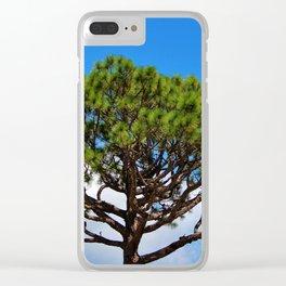 Italian Stone Pine Clear iPhone Case