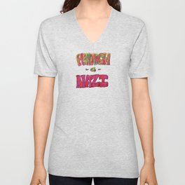 PunchANazi - This is Not Typography Unisex V-Neck