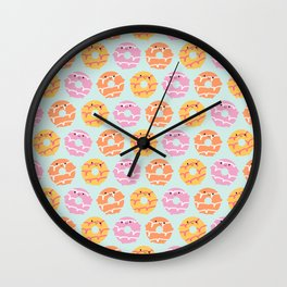 Kawaii Party Rings Biscuits Wall Clock