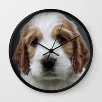 garfield Wall Clocks featuring Garfield by Irina Chuckowree