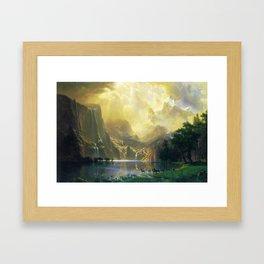 Among the Siera Nevada Mountains, California by Albert Bierstadt Framed Art Print