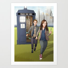 Fitzsimmons - Running Through Time and Space Art Print