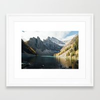 agnes Framed Art Prints featuring Lake Agnes by All The Way Photography