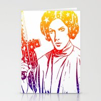 princess leia Stationery Cards featuring Princess Leia by mchlsrr