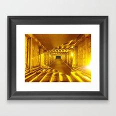 Gold way Framed Art Print