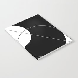 Black and White Geometry Notebook