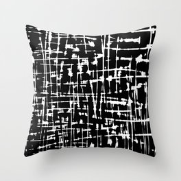 Abstract black and white artwork Throw Pillow