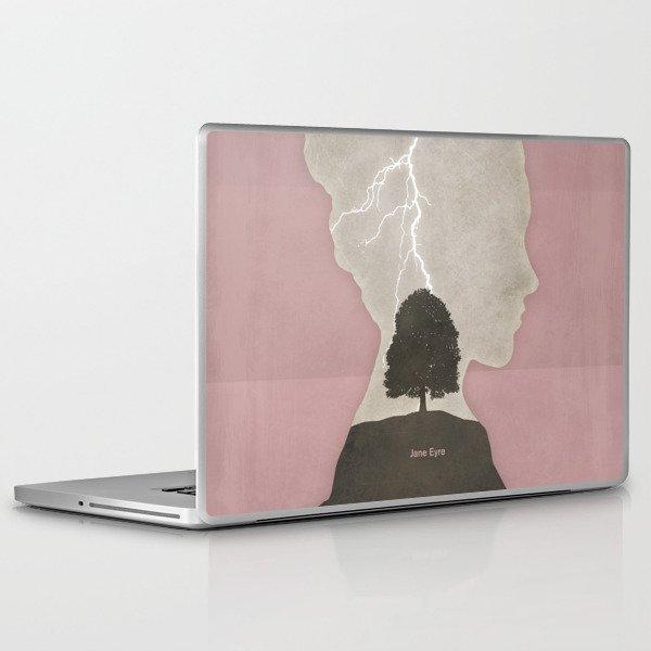 Charlotte Brontë Jane Eyre - Minimalist literary design Laptop & iPad Skin